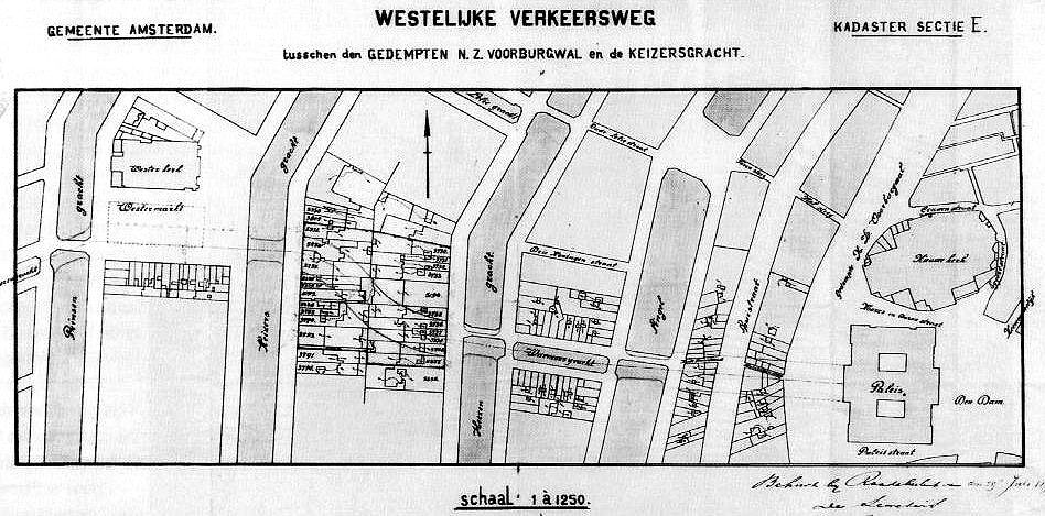106-Bridges-of-Amsterdam-Raadhuisstraat-Blueprint