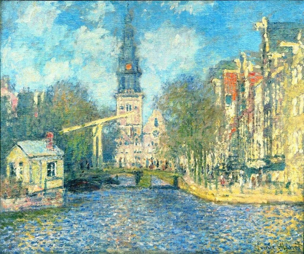 bridges-of-amsterdam-monet-zuiderkerk-in-amsterdam-public-domain